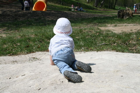 Elena in the Sand Pit